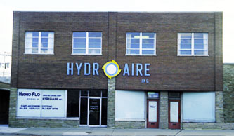 HydroAire's first facility on Diversey Avenue in Chicago circa 1969.