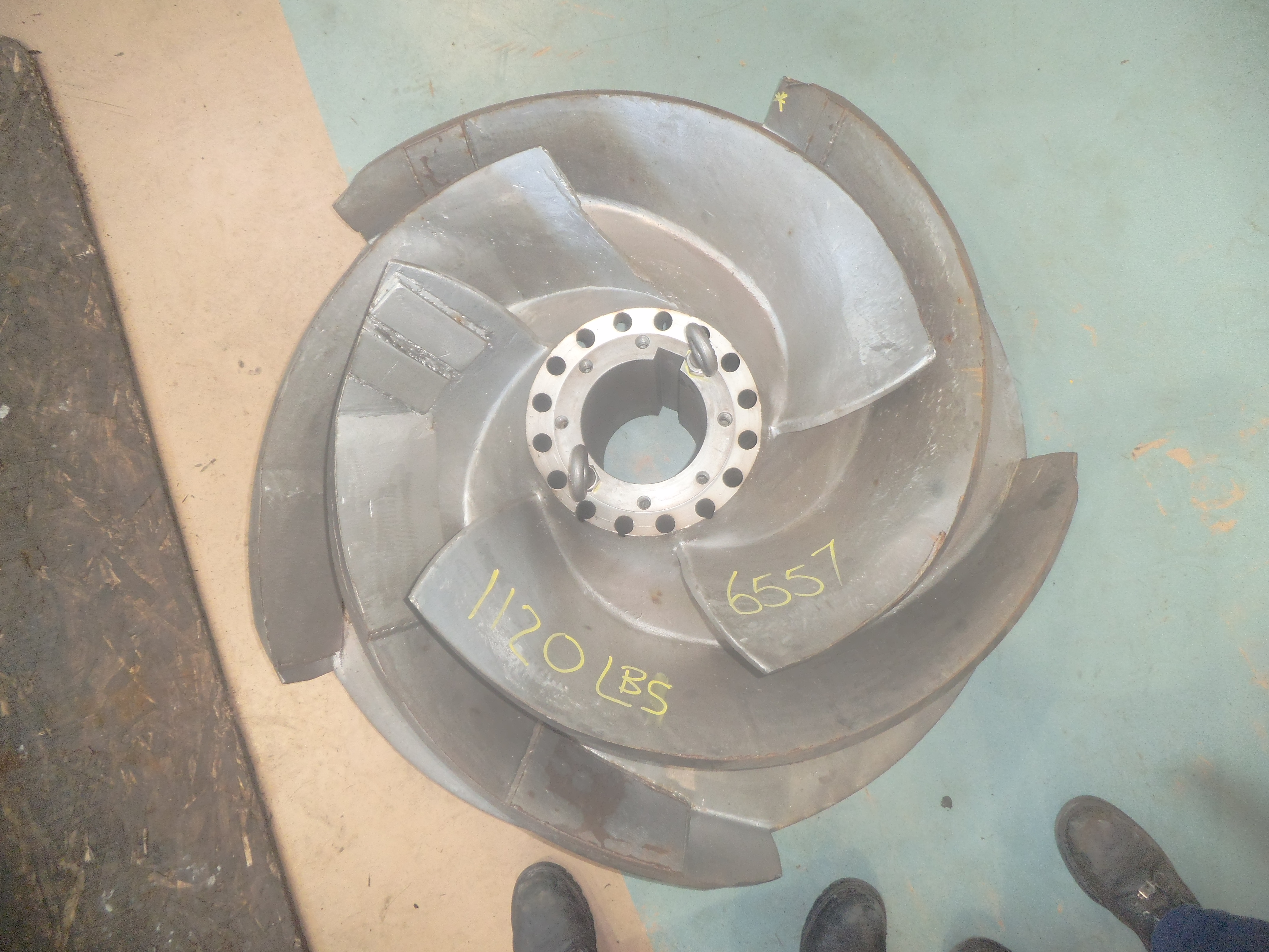 Weights added to impellers