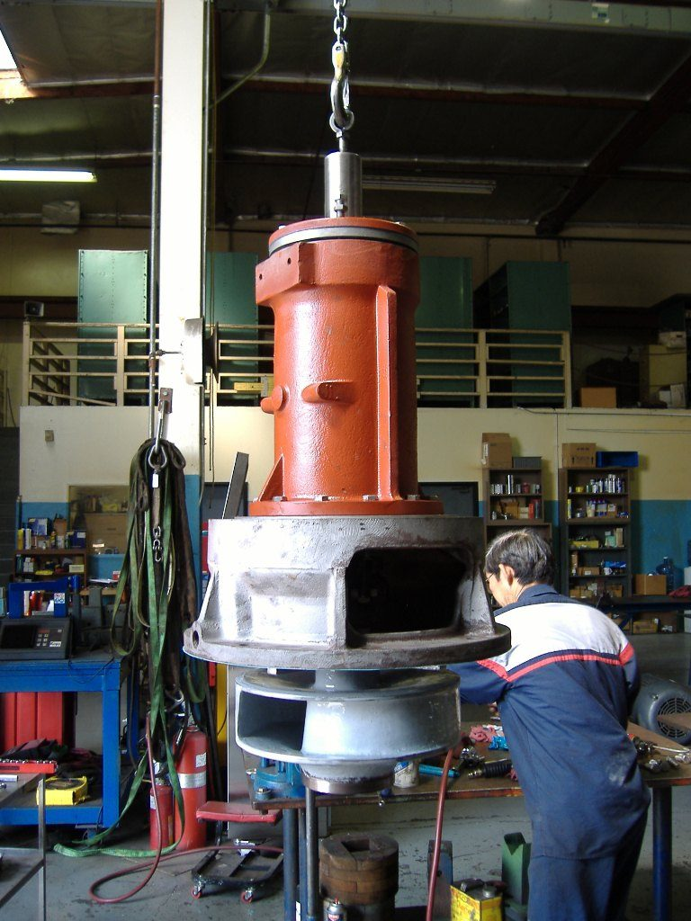 Allis Chalmers Dry Pit Sewage Pump: Evans Hydro not only repairs dry pit submersible pumps, we have developed changes to the impeller and volute design to improve pump efficiency and to prevent recirculation and wear on costly replacement parts.